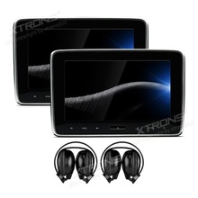 XTRONS 2pcs 10.1'' HD Digital Car Headrest DVD Player PC TFT Screen Touch Panel 1080P Video with HDMI Port with 2pcs headphones(China)