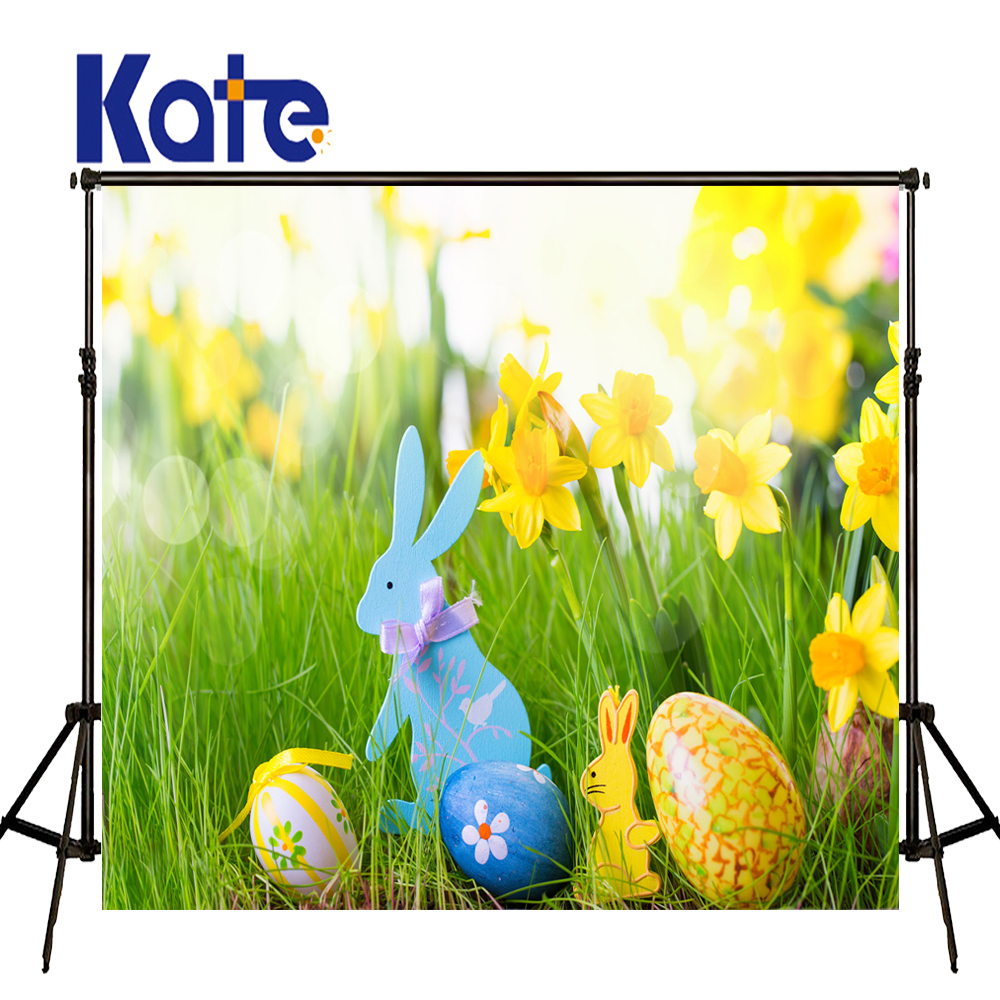 Easter Photography Backdrops Eggs Fairy Grass Fundo Fotografico Newborn Easter Sunday Zj<br>