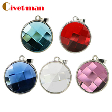 Best Selling genuine 8gb 16gb 32gb 64gb crystal jewellery gemstone necklace usb flash drive gift for girl menory disk pen drive