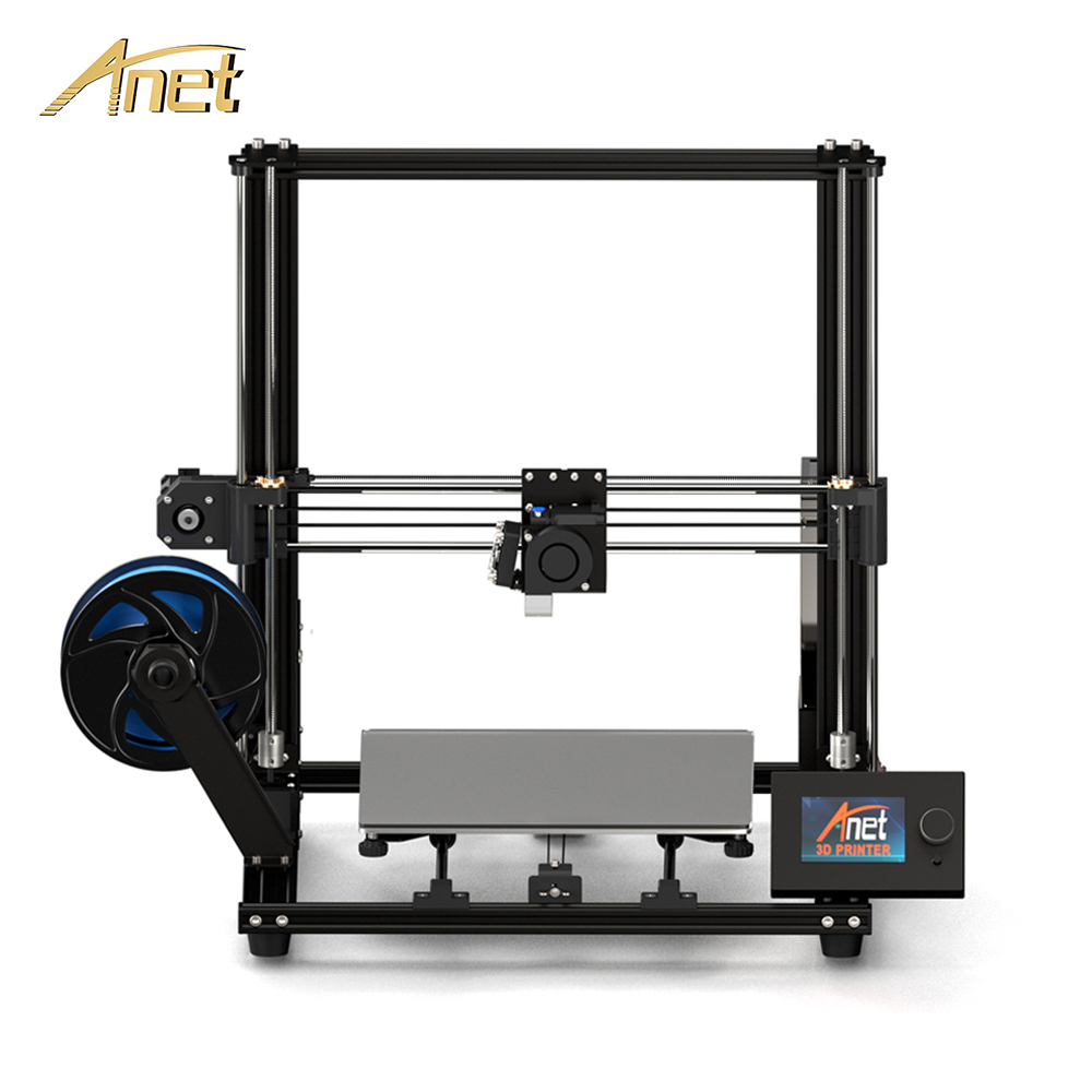 Anet 3d-Printer-Kit Filament FDM Aluminum-Alloy-Frame Plus Size A8 with ET4 220--220--250mm title=