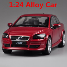 1:24 alloy car models,high simulation Volvo C30, metal diecasts,toy vehicles, high-end ornaments, children's gift, free shipping