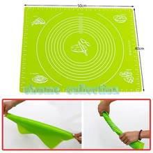 Candy Color Food Grade Silicone Rolling Cut Mat Fondant Clay Pastry Icing Dough Cake Sugar Craft Cooking Tools