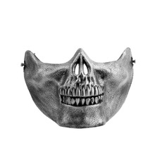 Skull Skeleton Airsoft Game Biker Half Face Protect Gear Mask Guard Halloween Masquerade Party Hot
