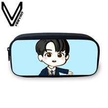 VEEVANV Brand 2017 BTS Cartoon Case 3D Print Bag Large Capacity School Student Supplie Pencils Case BTS Cartoon Print Image Case