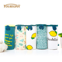 Buy YOUREGINA 5 Pcs/lot Sexy Cotton Women's Panties Printed Briefs Lovely Girls Underwear Wholesale Multicolor Lingerie Intimates
