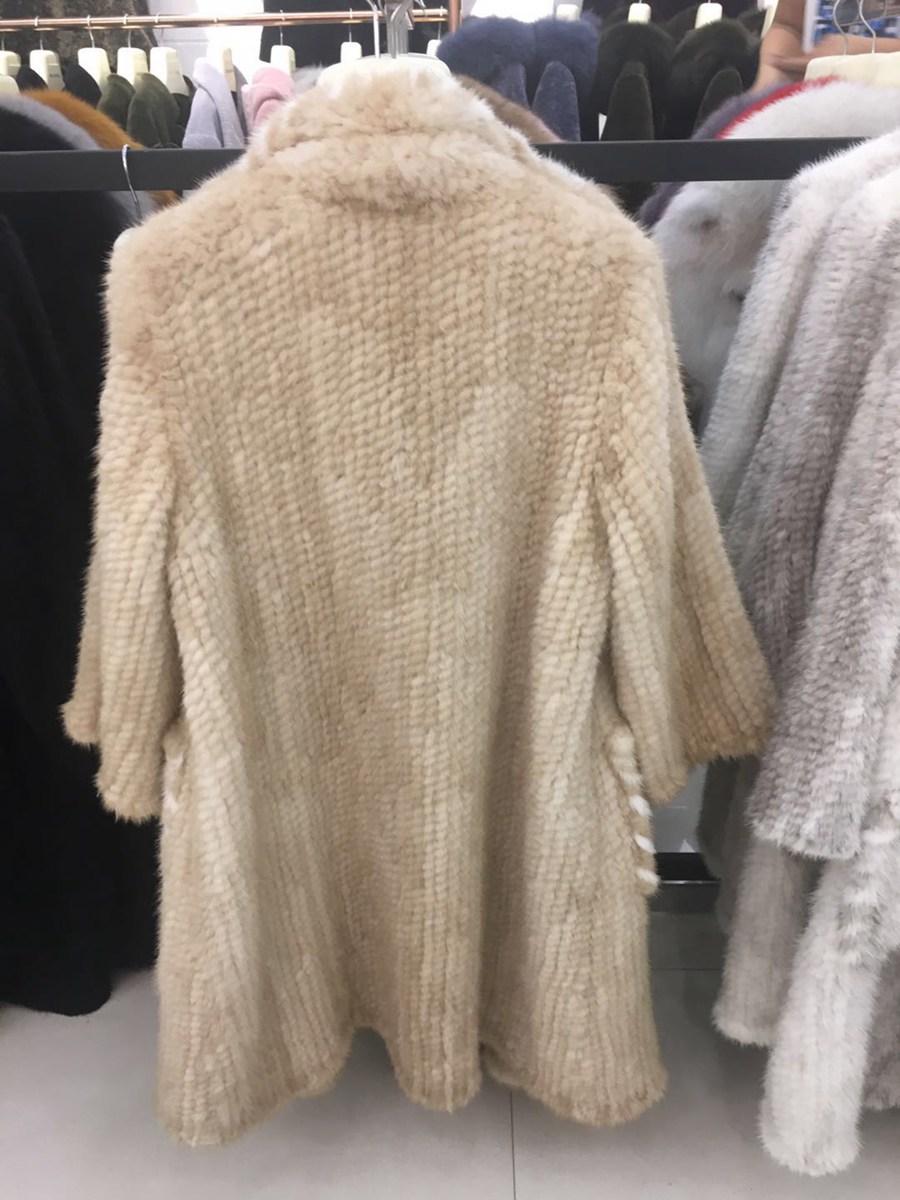 women luxury genuine real knitted mink fur shawls (2)