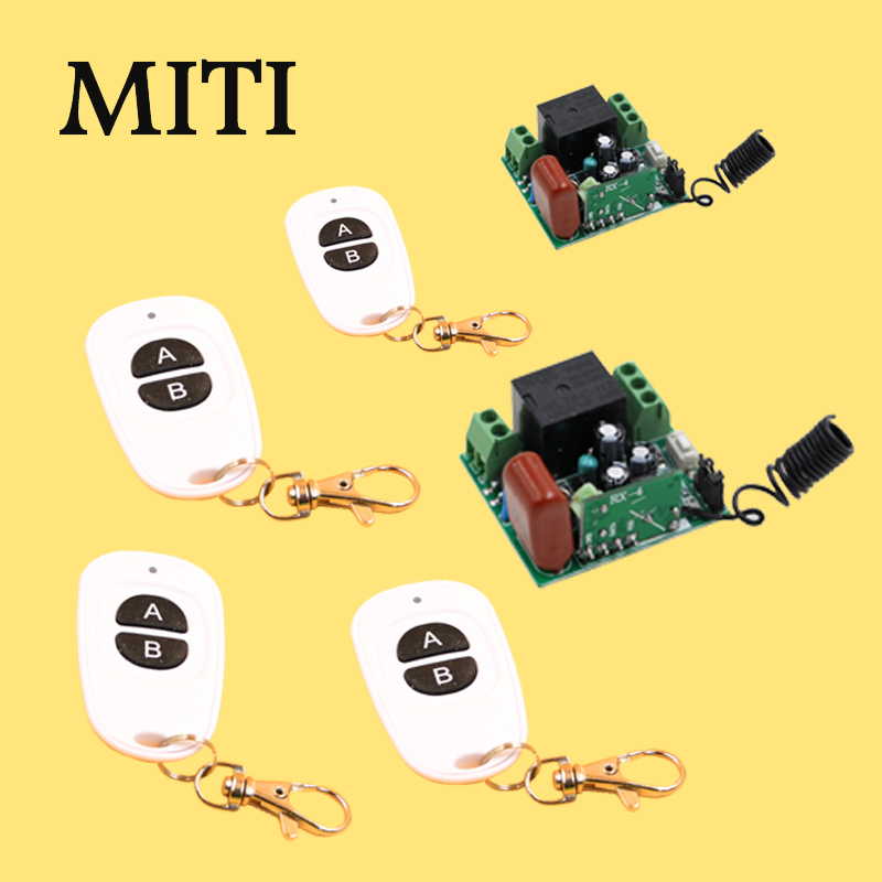 MITI AC220V 1CH Receiver &amp; Transmitter RF Wireless Remote Light Switch Momenrary Toggle Latched Adjustable 5523<br>