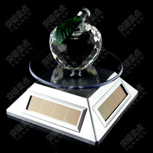Sliver Solar AAA 2-way Powered Jewelry Phone Watch Rotating Display Stand Turn Table Dropshipping Wholesale Free Shipping