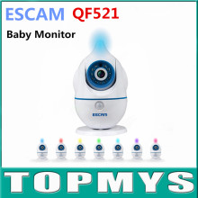 Free Shipping ESCAM Penguin QF521 720p WIFI IP camera Baby care Two way audio Monitoring voice alarm wireless support TF card