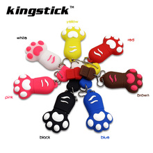 Cute Cartoon Claw Pen Drive 4GB 8GB 16GB 32GB 64GB 128GB USB Flash Drives Cat Paw Pendrives Flash usb Disk Memory Stick gift(China)