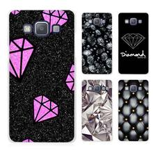 Black Diamond Design Clear Transparent Cell Phone Case Cover for Samsung Galaxy A3 A5 A7 A8 A9 2016 2017
