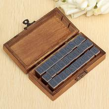 30pcs/pack Romantic Design Capital Letter Retro Vintage Wooden Craft Box Alphabet Stamp Rubber Stamp Set(China)