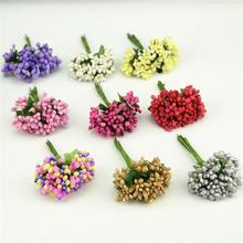 12pcs/lot Mulberry stems Artificial Flowers Stamen /DIY Pistils For Flowers Heads Wedding Scrapbooking Wire Craft Decoration