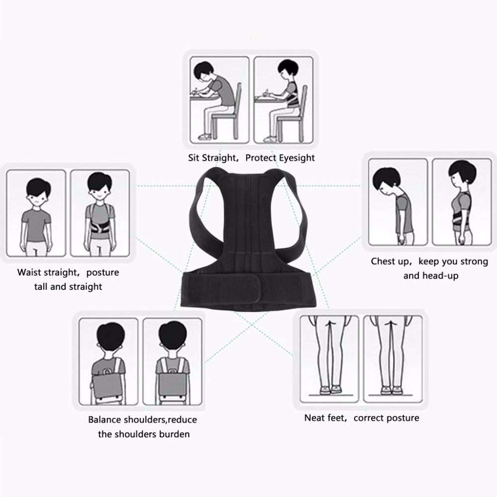 1 X Men Or Women Suitable Waist Support Brace Elastic Shoulder Back Belt Posture Corrector Improving Humpback<br>