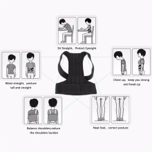 1 X Men Or Women Suitable Waist Support Brace Elastic Shoulder Back Belt Posture Corrector Improving Humpback(China)