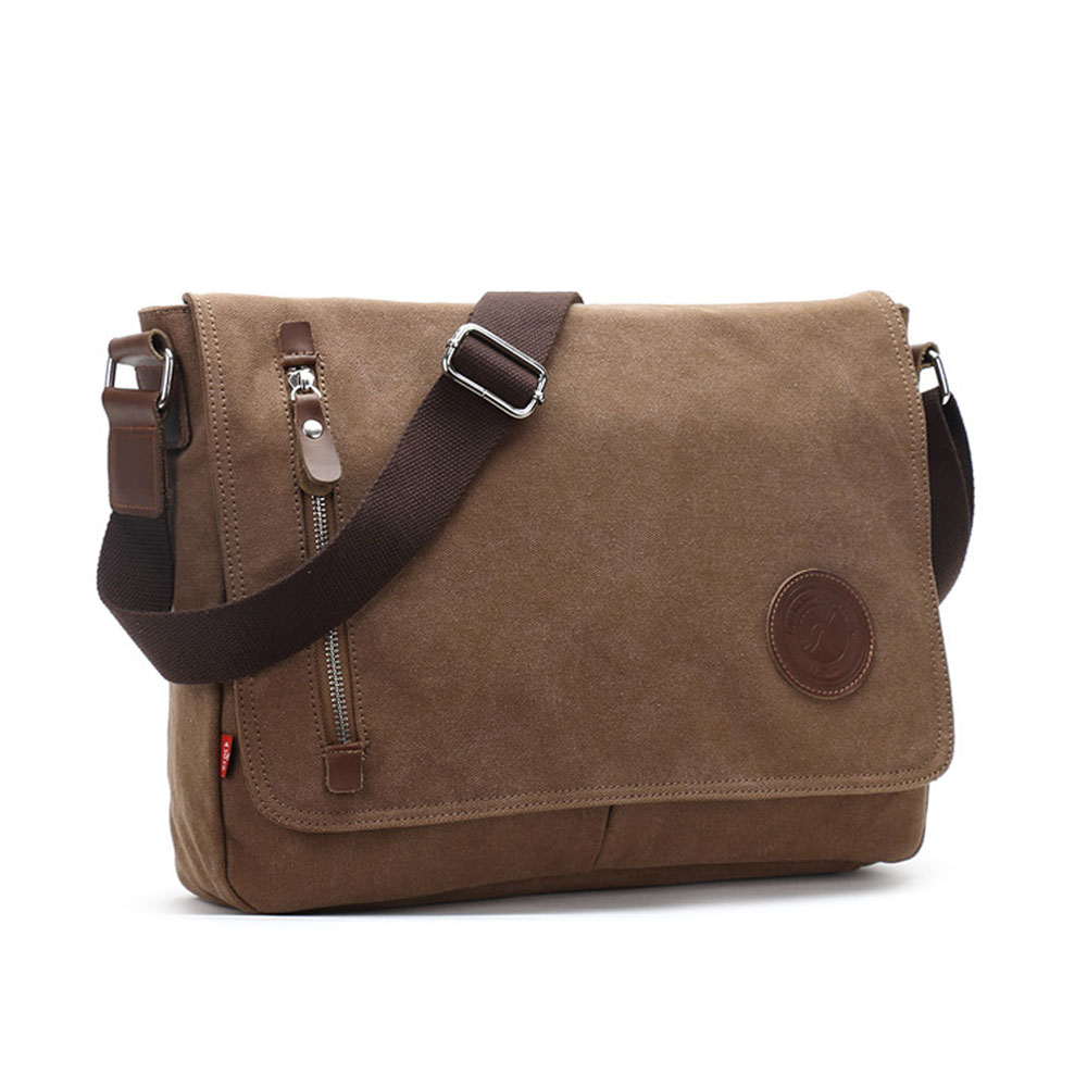 Fashion Vintage Canvas Men Bags School Travel Shoulder Bags Durable Cool Boy Crossbody Bag<br>
