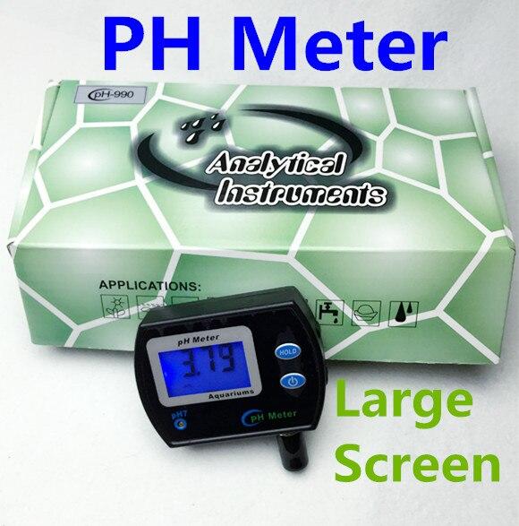 By DHL Fedex 50pcs large screen digital online pH meter tester for Aquarium PH-990 water Acidometer Analyzer backlight display<br><br>Aliexpress