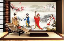 3d room wallpaper custom mural non-woven photo Ancient Chinese Four Beauties painting 3d wall murals wallpaper for walls 3 d