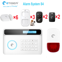 Europe&America best selling DIY home wireless alarm system kit smart GSM alarm system with 7inch dislay(China)