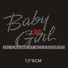 BABY GIRL Nice motif  new style free shipping  hotfix rhinestones motif heat transfer  garment accessories,  customized design