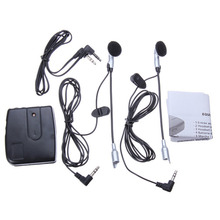 Motorbike Motorcycle Helmet Headset 2 way Intercom Communication System Interphone Headset Intercomunicador Motocicleta Earphone