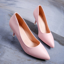 New Fashion high heels women pumps thin heel classic white red pink nede beige sexy prom wedding shoes women Chaussure Femme 20