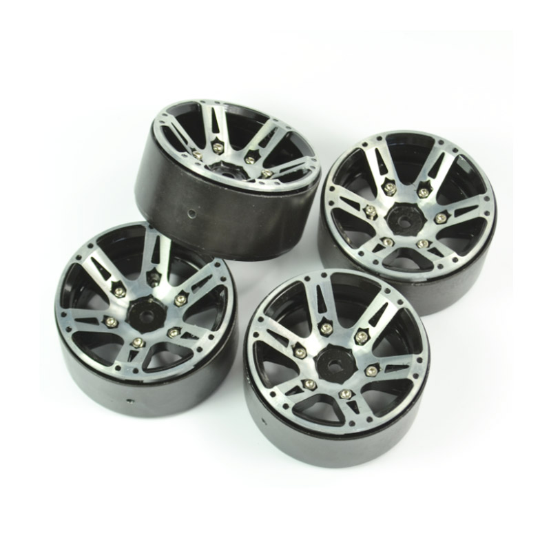 4PCS 1:10 Rock Crawler Alloy Metal Wheel Rim 1.9 Inch BEADLOCK for 1/10 Axial SCX10 90046 TAMIYA CC01 RC4WD D90 D110 RC part<br>