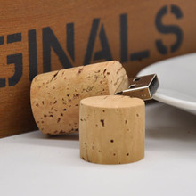 Free Shipping Novelty Thumbdrive 32GB USB2.0 Wood Wine Corks Shape Usb Flash Drive