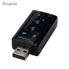 Audio Usb 7.1 Canali Esterna 3d Sound Adattatore Pc Notebook Card Adapter  KXL0217