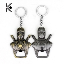 Buy Newest Anime Cartoon X-men Deadpool Bottle opener Pendent Key chain Pendant Keychain Chaveiro Metal Alloy Key Ring souvenir for $1.10 in AliExpress store