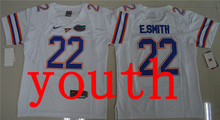 New Arrival Nike Youth Florida Gators E.Smith 22 College T-shirt Jersey - White Size S,M,L,XL