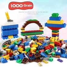 1000 Pcs/Set Children Toy Bulk Building Blocks Mixed Shape Stack Block Baby Kids Educational Toys Gifts FJ88(China)