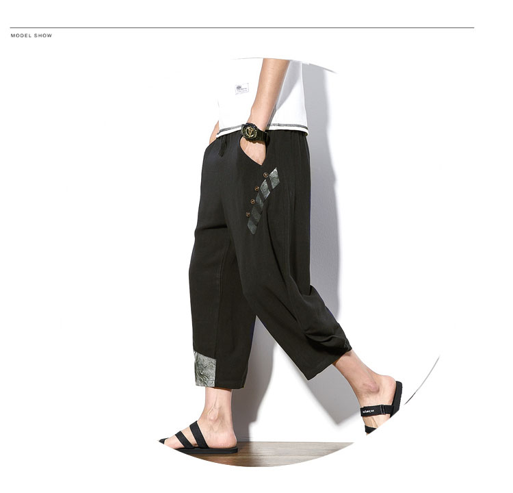 Aolamegs Mens Casual Pants Cotton Linen Loose Large Ankle-length Pants 2017 Summer Chinese Style Male Japan Harajuku Cross-pants (9)