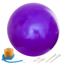 65cm Anti-Burst Yoga Balloon Gym Balance Stability Fitness Ball Gymnastic Exercise with Air Pump Yoga Accessories Home Workout