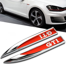 Car Styling GTI VW Grille Emblem Metal 2 Colors Car Auto Grill Badge Emblem Sticker for Volkswagen Polo VW Golf 4 Golf 5 Golf 6