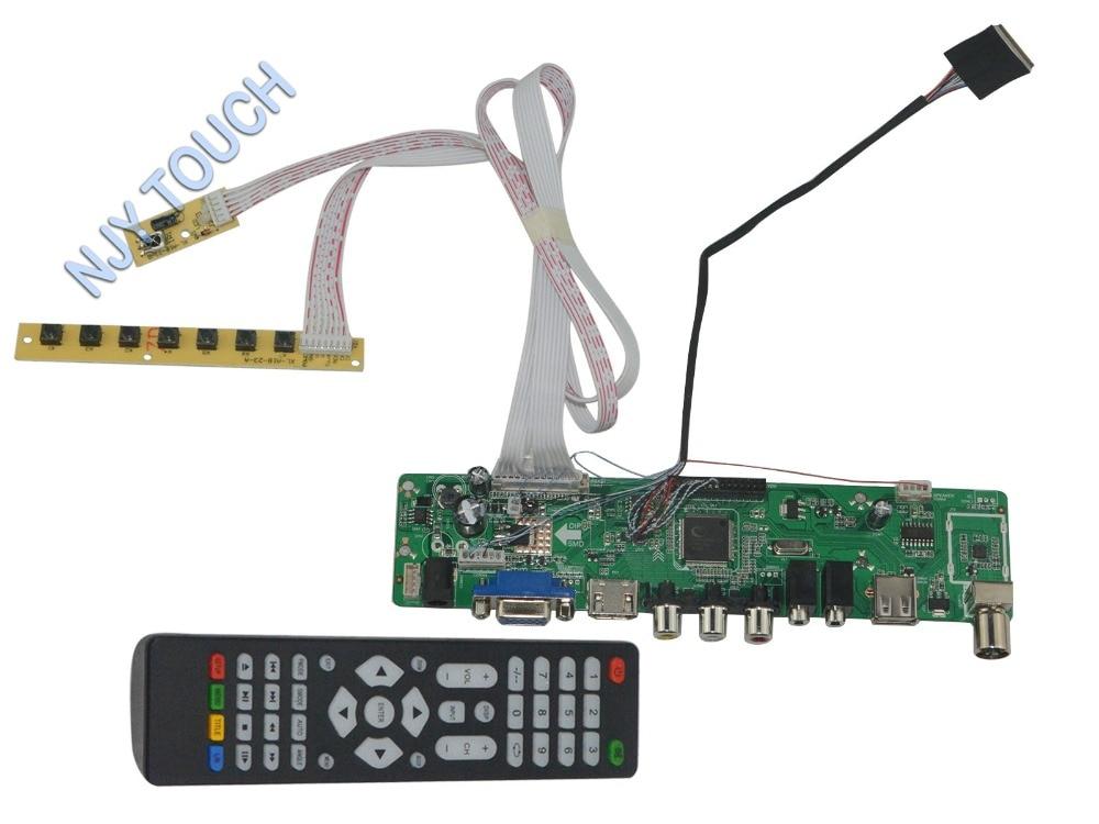 LA.MV56U.A New Universal HDMI USB AV VGA ATV PC LCD Controller Board for 8.9inch 1024x600 B089AW01 LED LVDS Monitor Kit<br>