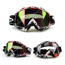 New Goggle Tinted UV Stripe Motorcycle Goggles Motocross Bike Cross Country Flexible Goggles Sport Glasses