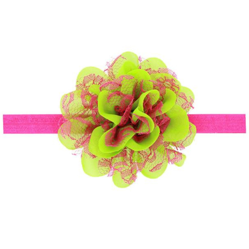 Enduring Hot selling Fashion Baby Girl Chiffon Flower Hair Band Headband Hairband Hair Accessories Multicolor<br><br>Aliexpress