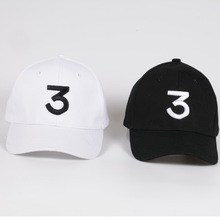 % Unisex  Popular chance the rapper 3 Hat Cap Black Letter Embroidery Baseball Cap Hip Hop Streetwear Strapback Snapback Sun Hat