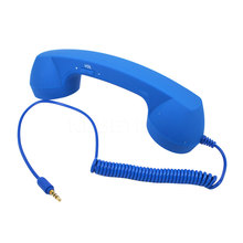 New Good quality 3.5mm Retro Telephone Handset Radiation-proof adjustable tone Cell Phone Receiver Microphone Earphon for iPhone