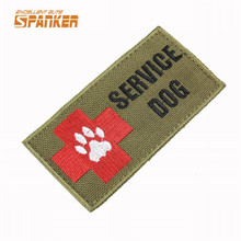 1000D Nylon Service Dog Guide Animal Waterproof Medical Disability Assistance Pet Iron On/Sew On Patch T-shirt Rectangle Badge