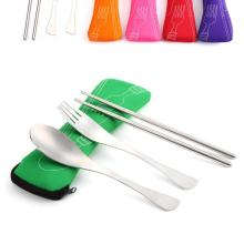 Travel Picnic Portable Cutlery Stainless Steel Tableware 3pcs/set Fork Set