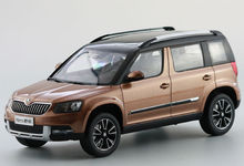 1:18 Diecast Model for Skoda Yeti 2015 Coppery SUV Alloy Toy Car Collection Gifts(China)