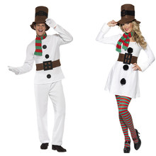 2017 Men Christmas Santa Claus Olaf Costume Women Halloween Olaf Cosplay Santa Claus Clothes Fancy Dress Costume Suit For Adult(China)