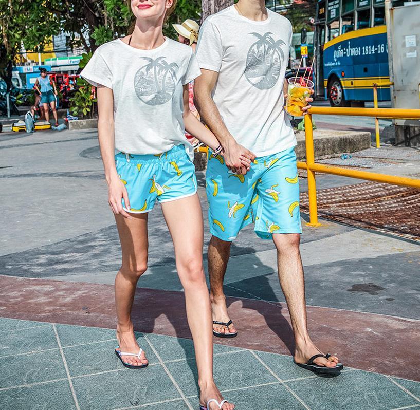 Swimwear Men Beach Shorts Surf Swim Banana Printed Shorts Quick Dry Board Shorts Man Swimsuits Swim Unisex Loose Leisure Shorts7