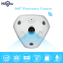 HD 3.0MP WiFi Panoramic Camera 360 Degree e-PTZ Fisheye Network IP CCTV Camera Video Storage Remote IR-CUT Onvif Audio-in hiseeu