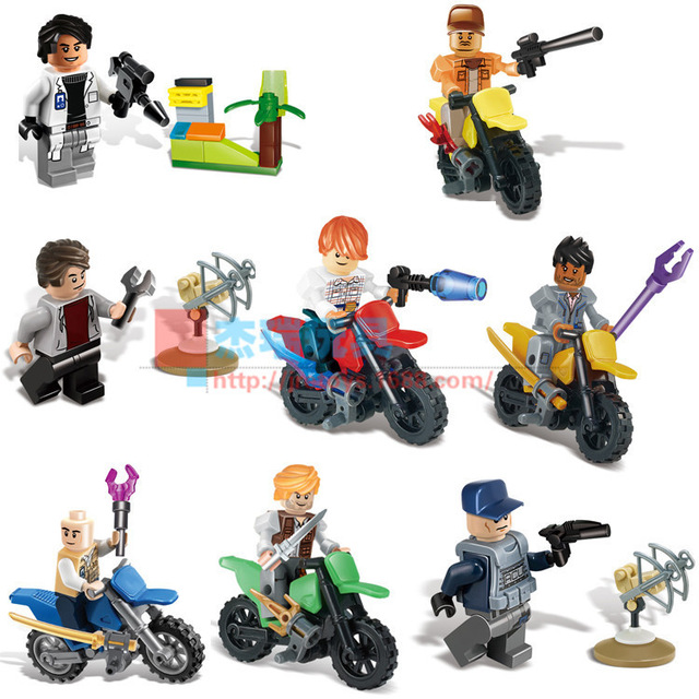 The Jurassic world Jurassic park movie theme 6 Dinosaur building blocks brick toys compatible with legoe gift for kids<br><br>Aliexpress