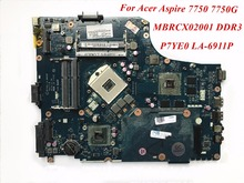 High Quality Product For Acer Aspire 7750 7750G Laptop Motherboard MBRCX02001 P7YE0 LA-6911P DDR3 Wholesale&100% Tested