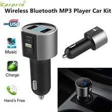car styling   Car Kit MP3 Music Player Wireless Bluetooth FM Transmitter Radio With 2 USB Port