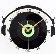 New Replacement electronic DIY wall clock mechanism design Home CD record music gift European quiet vintage creative watch XM